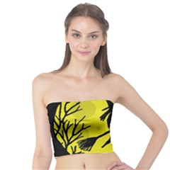 Halloween witch - yellow moon Tube Top