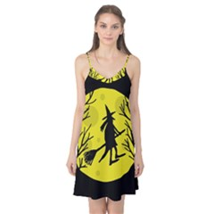 Halloween witch - yellow moon Camis Nightgown