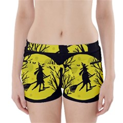Halloween witch - yellow moon Boyleg Bikini Wrap Bottoms