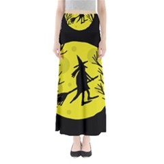 Halloween witch - yellow moon Maxi Skirts