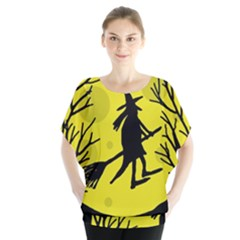 Halloween witch - yellow moon Blouse