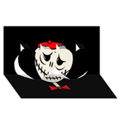 Halloween monster Twin Hearts 3D Greeting Card (8x4)