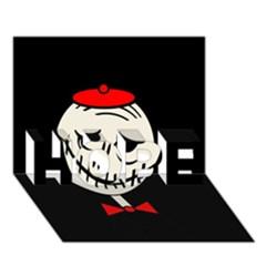 Halloween monster HOPE 3D Greeting Card (7x5)