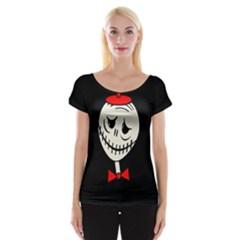 Halloween Monster Women s Cap Sleeve Top