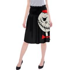 Halloween monster Midi Beach Skirt