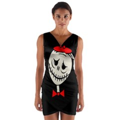 Halloween monster Wrap Front Bodycon Dress
