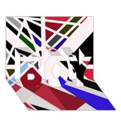 Decorative flag design BOY 3D Greeting Card (7x5)