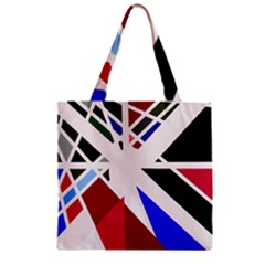 Decorative flag design Zipper Grocery Tote Bag