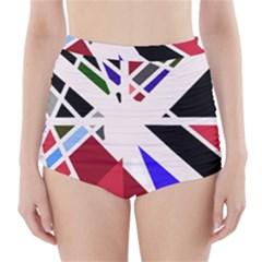 Decorative flag design High-Waisted Bikini Bottoms