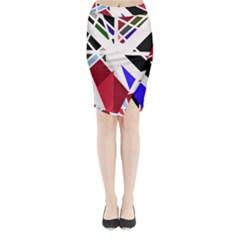 Decorative flag design Midi Wrap Pencil Skirt