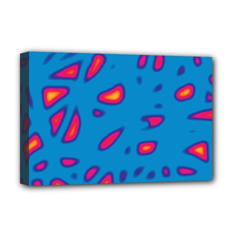 Blue and red neon Deluxe Canvas 18  x 12