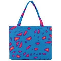 Blue and red neon Mini Tote Bag