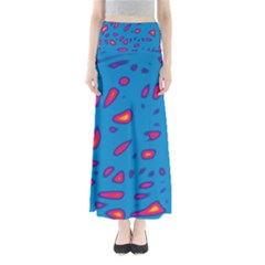 Blue and red neon Maxi Skirts
