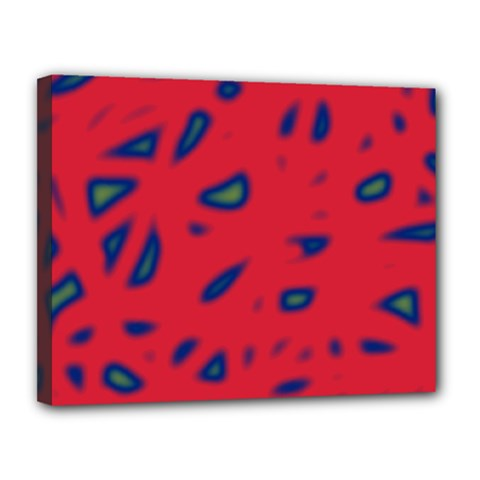Red neon Canvas 14  x 11