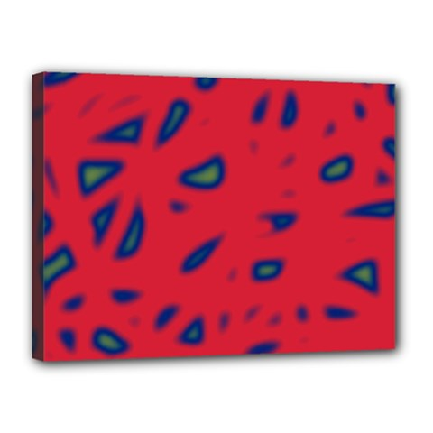 Red neon Canvas 16  x 12