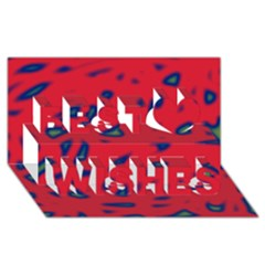 Red neon Best Wish 3D Greeting Card (8x4)