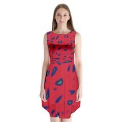 Red Neon Sleeveless Chiffon Dress