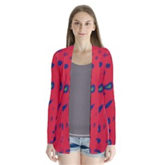Red neon Drape Collar Cardigan