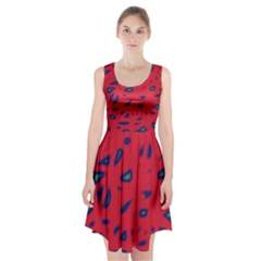 Red Neon Racerback Midi Dress