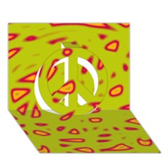 Yellow neon design Peace Sign 3D Greeting Card (7x5)