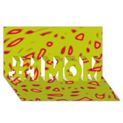 Yellow neon design #1 MOM 3D Greeting Cards (8x4)