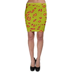 Yellow neon design Bodycon Skirt