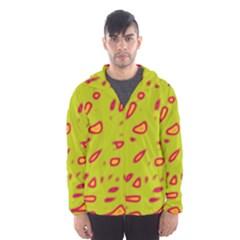 Yellow neon design Hooded Wind Breaker (Men)
