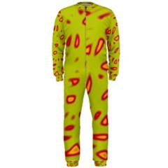 Yellow neon design OnePiece Jumpsuit (Men)