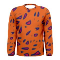 Orange neon Men s Long Sleeve Tee