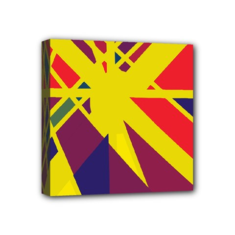 Hot abstraction Mini Canvas 4  x 4