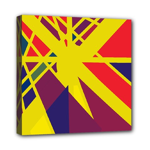 Hot abstraction Mini Canvas 8  x 8