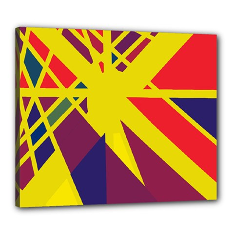 Hot abstraction Canvas 24  x 20