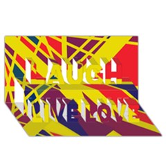 Hot abstraction Laugh Live Love 3D Greeting Card (8x4)
