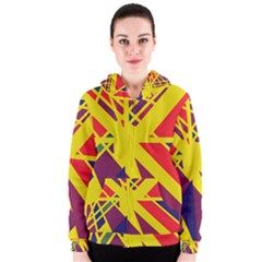 Hot abstraction Women s Zipper Hoodie