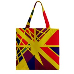 Hot abstraction Zipper Grocery Tote Bag