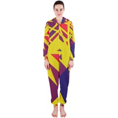 Hot abstraction Hooded Jumpsuit (Ladies)
