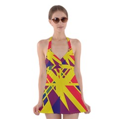 Hot abstraction Halter Swimsuit Dress