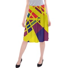 Hot abstraction Midi Beach Skirt