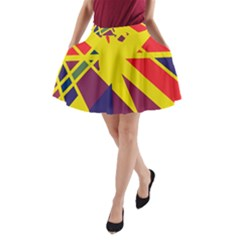 Hot abstraction A-Line Pocket Skirt