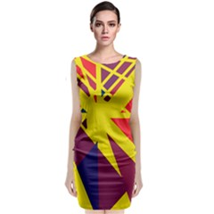 Hot Abstraction Classic Sleeveless Midi Dress