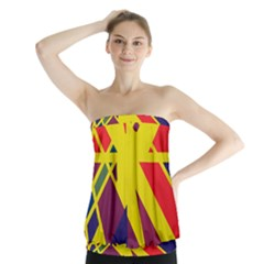 Hot abstraction Strapless Top