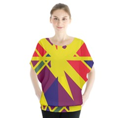 Hot Abstraction Blouse