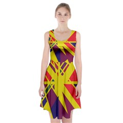 Hot abstraction Racerback Midi Dress
