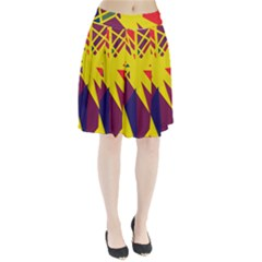 Hot Abstraction Pleated Skirt