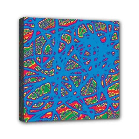 Colorful neon chaos Mini Canvas 6  x 6