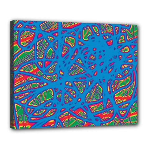 Colorful neon chaos Canvas 20  x 16
