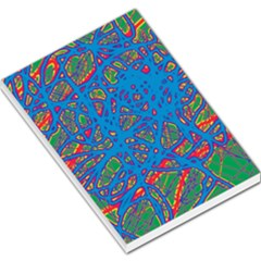 Colorful neon chaos Large Memo Pads