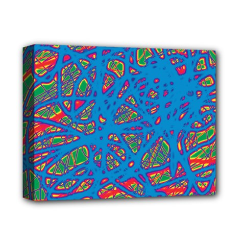 Colorful neon chaos Deluxe Canvas 14  x 11