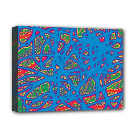 Colorful neon chaos Deluxe Canvas 16  x 12
