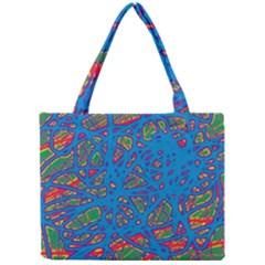 Colorful neon chaos Mini Tote Bag